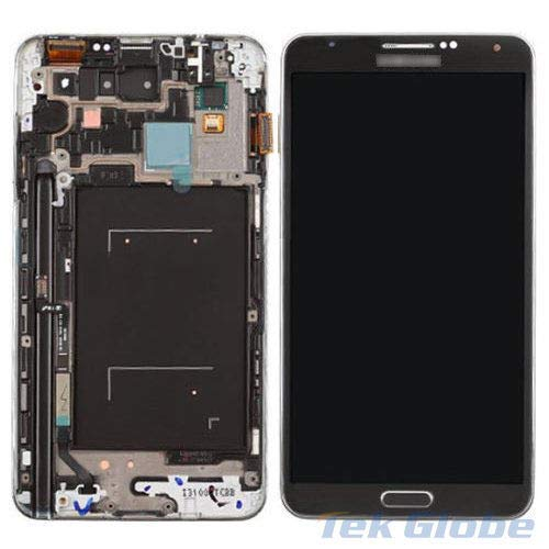 ePartSolution_LCD Display Touch Screen Digitizer + Frame Assembly for Samsung Galaxy Note 3 N900P Sprint Gray Replacement Part USA