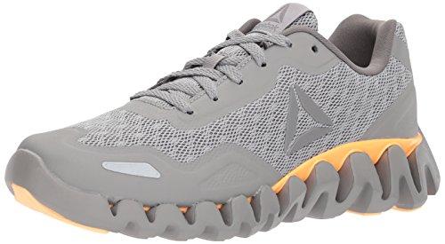 Reebok Women's Zig Pulse-SE Sneaker, CH Solid Grey/Mgh Solid Grey/Shark/Desert Glow, 8.5 M US
