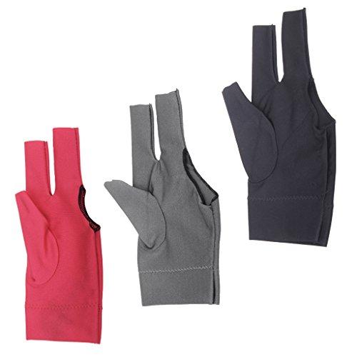 Snooker Left Hand Three Fingertip Glove - 1