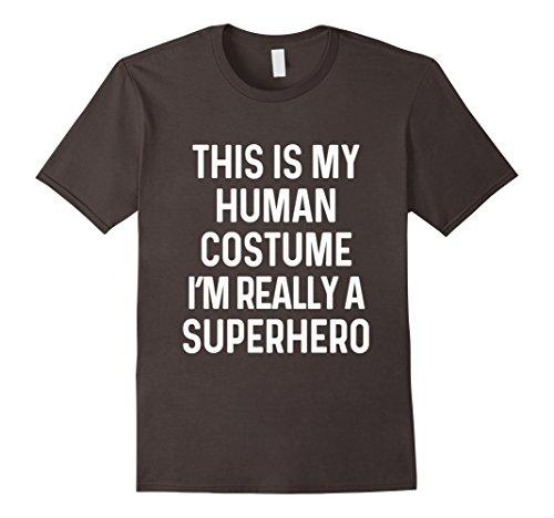 Superhero Costume Ideas For Adults (Mens Funny Superhero Costume Shirt Halloween Kids Adult Men Women XL Asphalt)