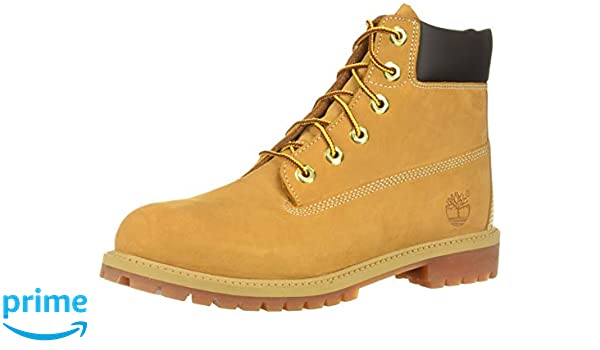 Black Timberland Construction boots 5 youth hi top
