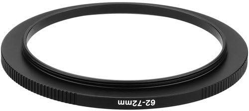 Sensei PRO 62mm Lens to 72mm Filter Aluminum Step-Up Ring 6 Pack