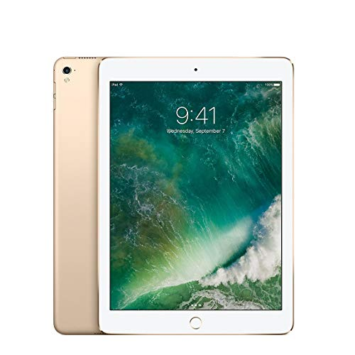 iPad Pro 9.7-inch (128GB, Wi-Fi + Cellular, Gold) 2016 Model (Renewed)