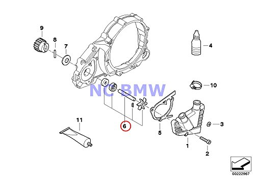BMW Genuine Motorcycle Water Pump Water Pump Shaft Set F650 F650ST F650CS G650 Xchallenge G650 Xcountry G650 Xmoto F650GS F650GS Dakar (Shaft Water Pump)