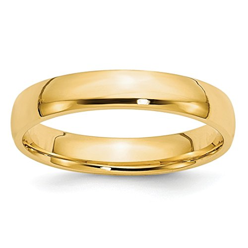 ICE CARATS 14kt Yellow Gold 4mm Ltw Comfort Fit Wedding Ring Band Size 5.5 Classic Fine Jewelry Ideal Gifts For Women Gift Set From Heart