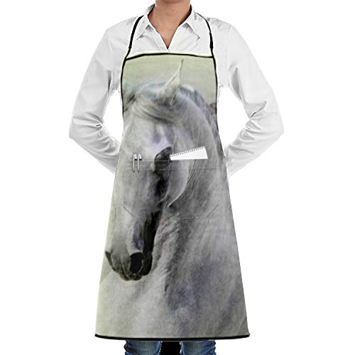 CFLY Arabian Horse Personalized Chef¡¯s Cooking Apron Men Kitchen, BBQ Grill by CFLY