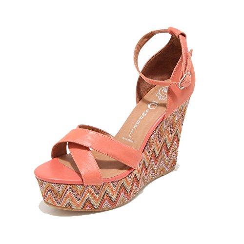 3260I sandali zeppe dona JEFFREY CAMPBELL bradshaw 2 scarpe shoes women rosa salmone