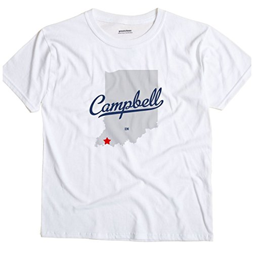 GreatCitees Campbell Indiana in, Warrick County MAP Unisex Souvenir T Shirt
