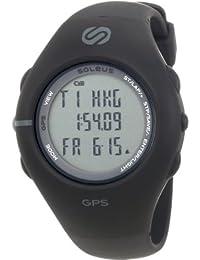 Men's SG001003 GPS 1.0 Black Resin Digital Multi-Function GPS Watch