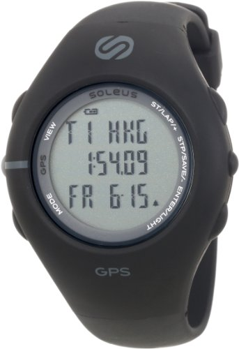 Soleus Men's SG001003 GPS 1.0 Black Resin Digital Multi-Function GPS Watch