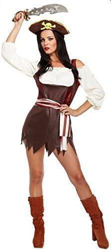 Mujer Sexy Chica Pirata + Sombrero VILLANO Disfraz de Halloween ...