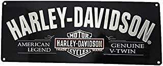 product image for Harley-Davidson V-Twin Bar & Shield Tin Sign 18 x 7-1/8 Black 2010681