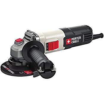 "PORTER-CABLE PCE810 6.0 Amp 4-1/2"" Small Angle Grinder,"