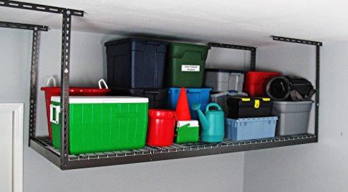 MonsterRAX – 3×8 Overhead Garage Storage Rack (12″-21″)
