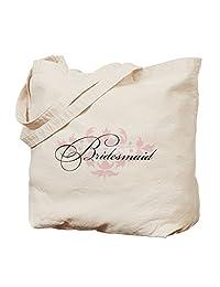 CafePress - Bridesmaid - Natural Canvas Tote Bag, Cloth Shopping Bag