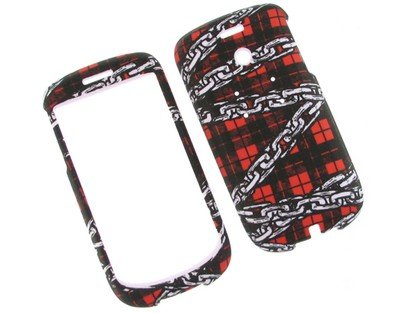 Durable Plastic Phone Design Case Cover Chain Plaid For T-Mobile myTouch 3G (3g Mytouch Design T-mobile)