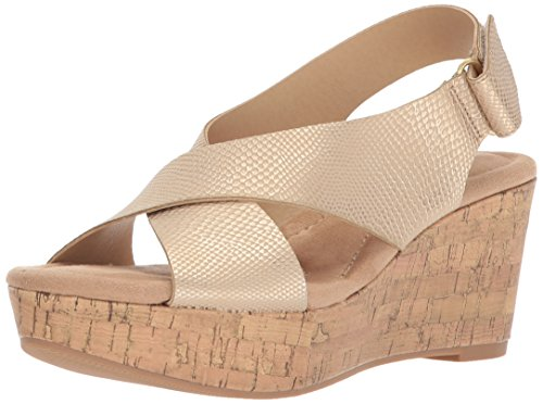 CL by Chinese Laundry Women's Dream Girl Wedge Sandal, Gold Snake, 8 M US