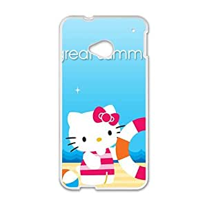 QQQO Hello kitty Phone Case for HTC One M7 case