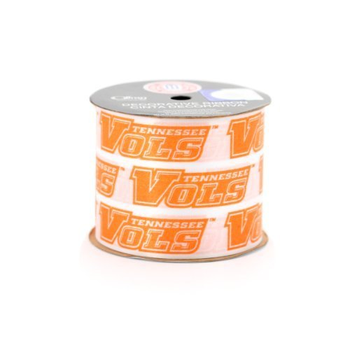 (UNIVERSITY OF TENNESSEE GIFT WRAP RIBBON-TENNESSEE VOLUNTEERS CRAFT RIBBON-2 1/2