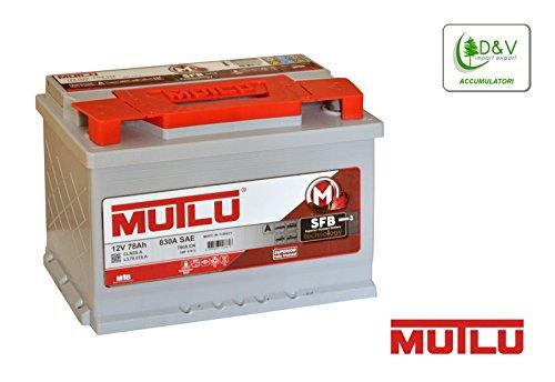 MUTLU CAR BATTERY 12V 78Ah 850A (EN):