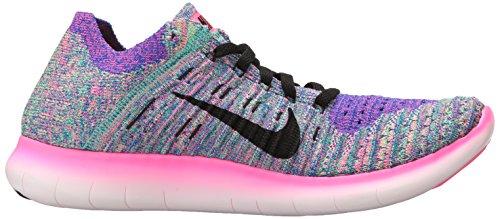 Mujeres Nike Free Running Motion Motion Motion Flyknit Zapatos Morado Y Negro 803d82