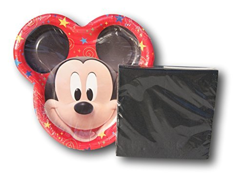 Mickey Mouse Disney Clubhouse Party Birthday Bundle - Plates and Napkins