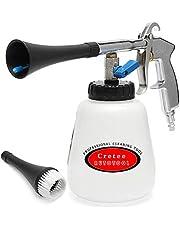 Cretee Automatyczny pistolet do mycia, pistolet do czyszczenia, pistolet do mycia na sprężone powietrze do samochodów, regulowane ciśnienie powietrza