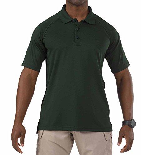 L Polo Da 11 Performance Verde Corte 5 Uomo Green e Maniche A fqzEw