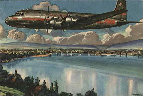 Trans World Airline Aircraft Original Vintage Postcard