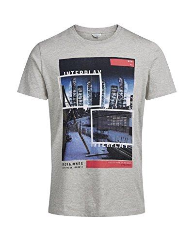 JACK & JONES Herren T-Shirt grau grau