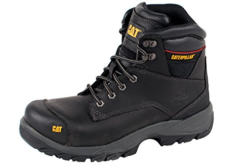 TALLA 46. CAT Workwear Mens SPIRO Water Resistant Leather S3 Steel Safety Boots