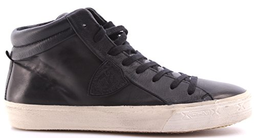 Zapatos Sneakers Hombre PHILIPPE MODEL Paris Middle Veau Black Leather Italy New