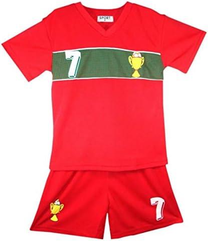 Genérico - Conjunto de camiseta y pantalón corto de Portugal para niño, color rojo, talla 2 a 14 años, rojo, 12 años: Amazon.es: Deportes y aire libre