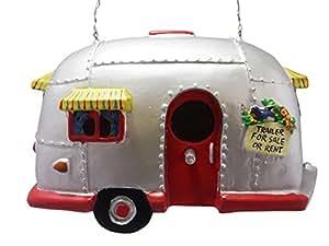 Camper remolque pajarera casa de pájaros Airstream estilo Rv decoración para el hogar patio jardín porche Patio país