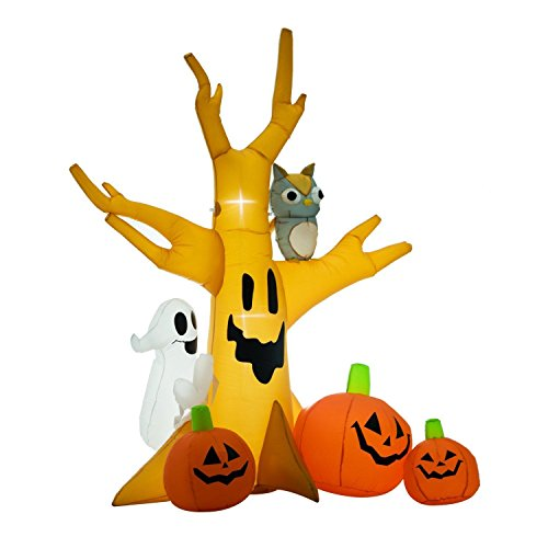 Yal Boutique 7.5' Decorative Outdoor Halloween Airblown Inflatable Creepy Haunted Ghost Tree Yard]()