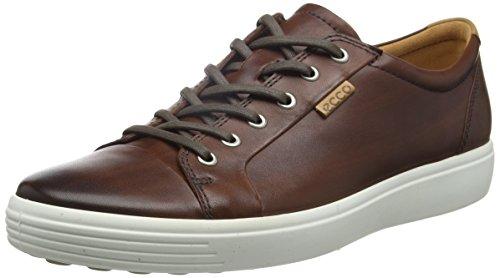 ECCO Men's Soft 7 Tie Fashion Sneaker, Whisky Premium Leather, 39 EU / 5-5.5 US