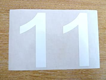 Printing & Graphic Arts 71mm White Sticky Vinyl Numbers Self-adhesive Stickers Plastic Stick On Labels