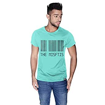 Creo Green Cotton Round Neck T-Shirt For Men