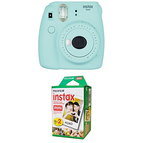 Fujifilm Instax Mini 9 Instant Camera – Ice Blue with Twin Pack