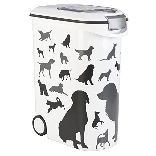 Curver Petlife Futtertonne 'Silhouette Dog' 20 kg / 52 ltr. auf Rollen