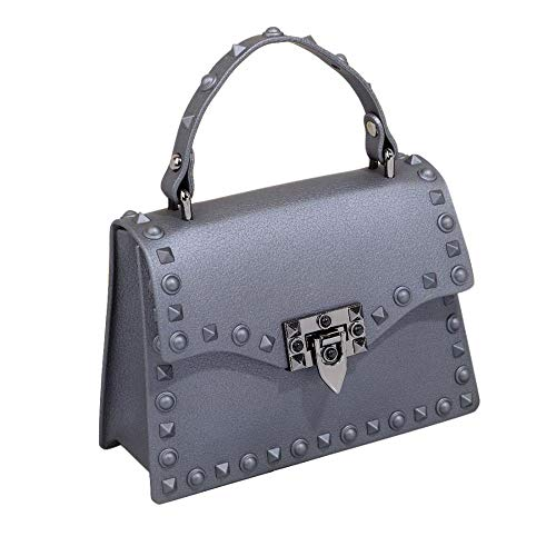 Designer Rivet Top Handle Crossbody Bags Fashion Tote Clutch Purse Jelly Handbags for Women -