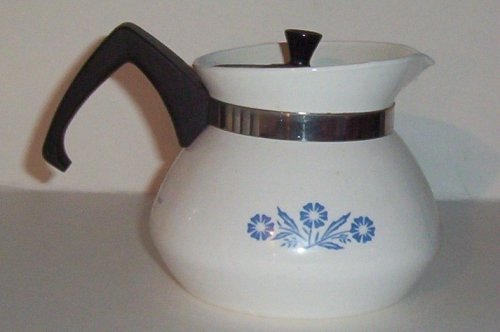 Corning Blue Cornflower Mini Teapot Tea Pot and Lid (3 cup)