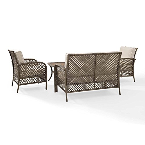 Tribeca 4 Piece Deep Seating Group Outdoor Patio Conversation Set Uv Protection Wicker Rattan