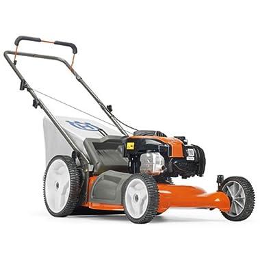 Husqvarna 5521P 21-Inch 140cc Briggs & Stratton Gas Powered 3-in-1 Push Lawn Mower With High Rear Wheels