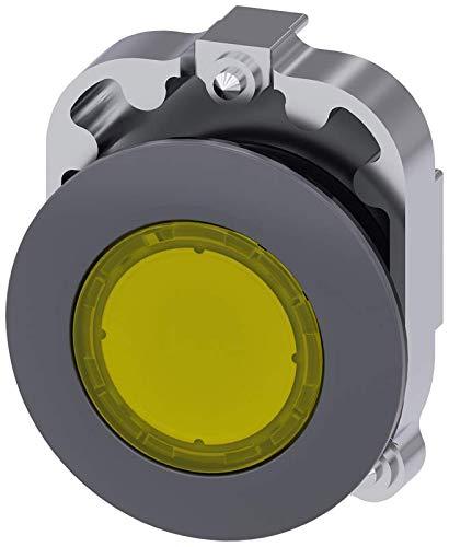 IP69K Protection Rating 30mm Siemens 3SU10610JB300AA0 Illuminated Pushbutton Plastic /& Metal IP67 Matte Metal Flat Yellow Siemens Industry 3SU1061-0JB30-0AA0 IP66
