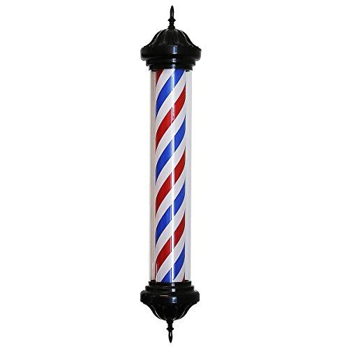 "41"" Slim Barber Pole Black Extra Bulb Man Cave USA Stripe..."