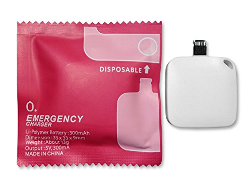 Emergency one-time mobile charger 1000mah disposable power bank