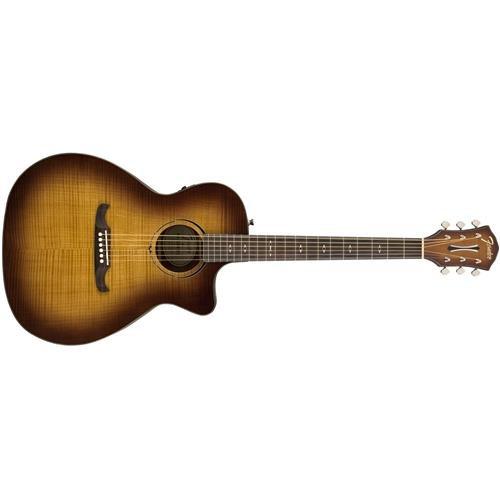 Fender FA-345CE Auditorium Body Style Acoustic Guitar – Roswood Fingerboard – Iced Tea Burst