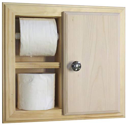 (Wood Cabinets Direct Havana Toilet Paper Holder, Unfinished Pine)