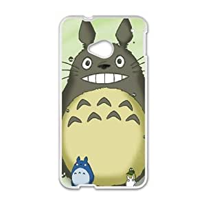 Back Skin Case Shell HTC One M7 Cell Phone Case White My Neighbor Totoro Hdijh Pattern Hard Case Cover